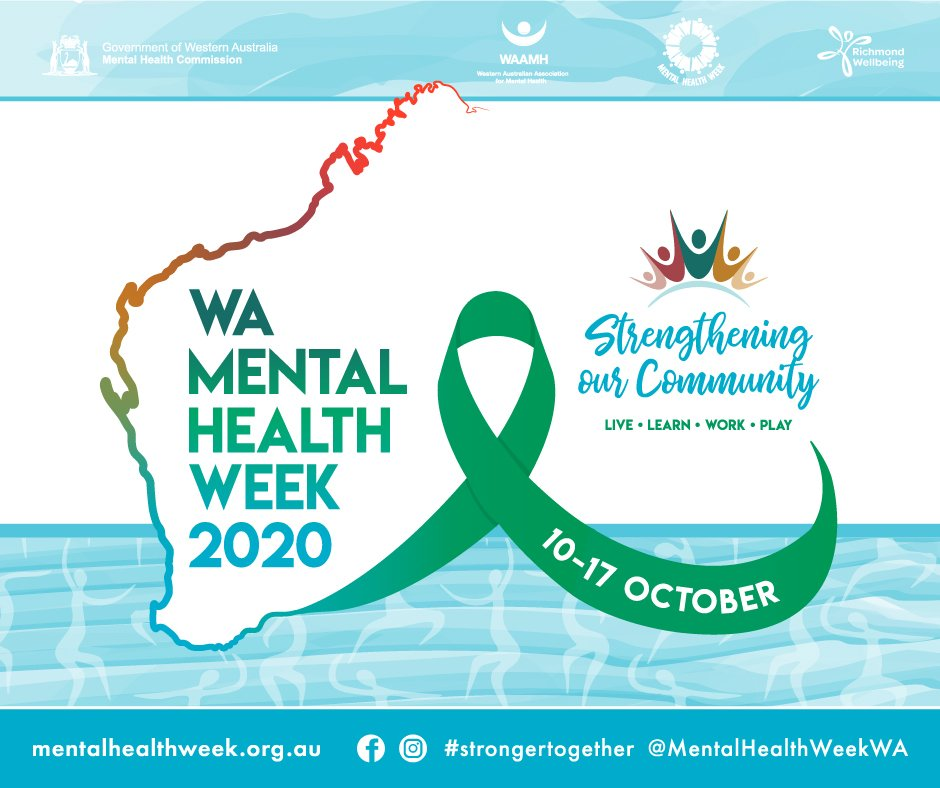 WA mental health week 2020 logo theme