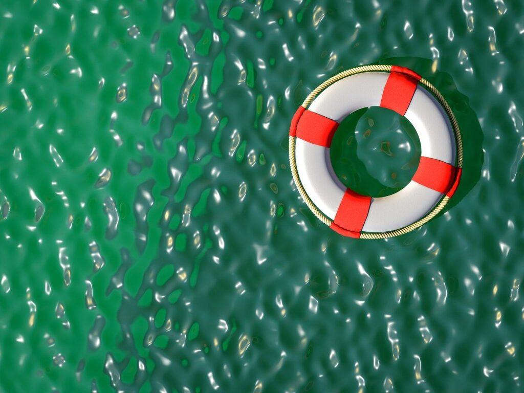 Consumer Advisory Group - banner lifebuoy on water