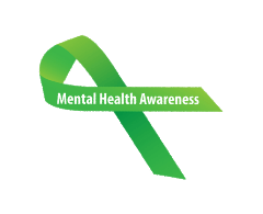 mental health awareness green ribbon