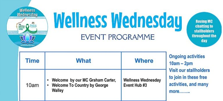 Wellness Wednesday Event programme preview
