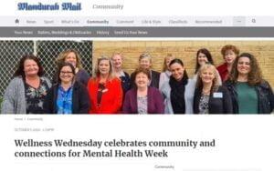 Article for Wellness Wednesday in Mandurah Mail