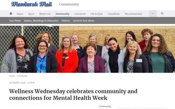 Article for Wellness Wednesday in Mandurah Mail